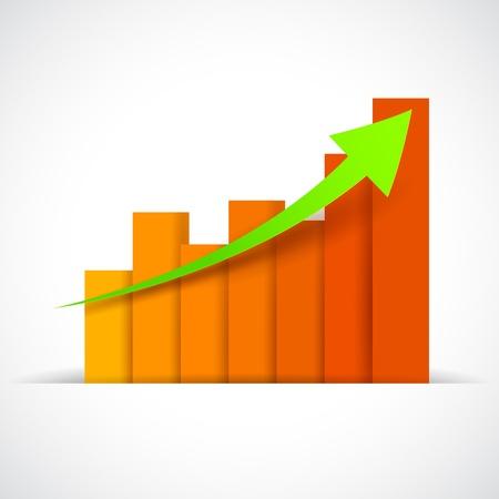 bargraph: illustration of Infograph Business Bargraph Illustration