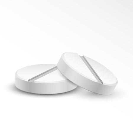 illustration of medical pill tablet on white background Stock Illustration - 20922688