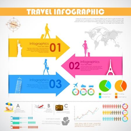 illustration of Travel Infographic Chart for presentation illustration
