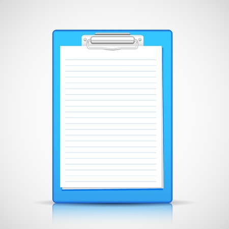illustration of blank paper in clipboard Stock Illustration - 20922702
