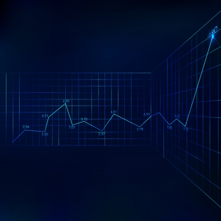 illustration of graph line on business background illustration