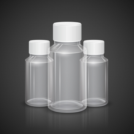 cure: illustration of all purpose transparent bottle with cap