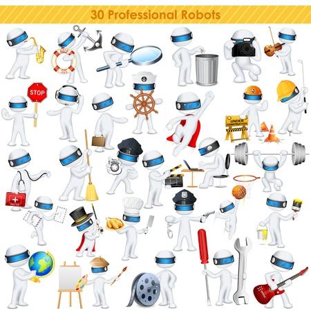 robot: ejemplo de hombre de negocios 3d en vector totalmente escalable