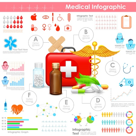 illustration of Healthcare and Medical Infographic illustration