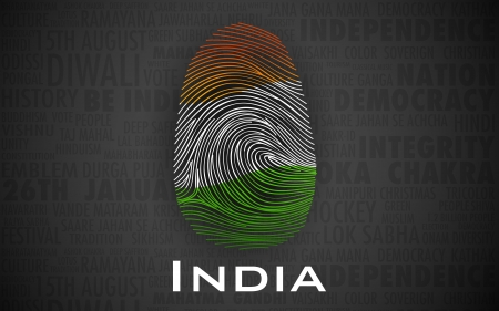 illustration of thumbprint in Indian color showing proud to be an India Stock Vector - 21471020