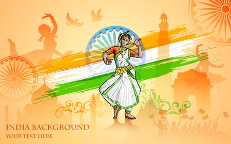 illustration of colorful culture of India Illustration