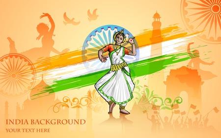 bandera de la india: ilustración de la colorida cultura de la India