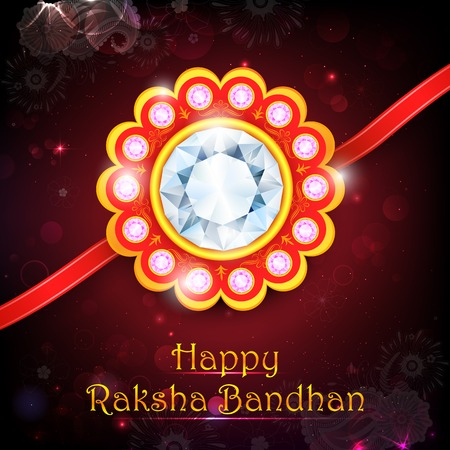 raksha: illustration of decorative rakhi for Raksha Bandhan Illustration