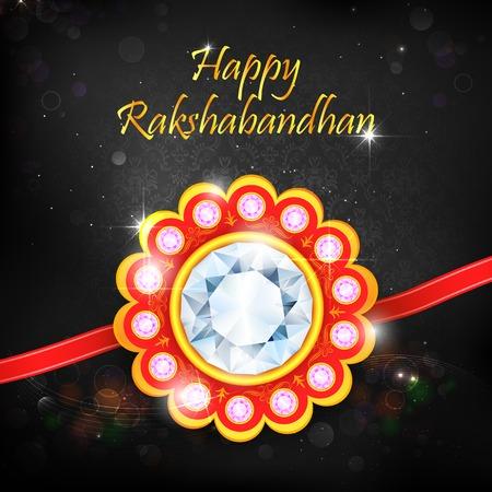 ocassion: illustration of decorative rakhi for Raksha Bandhan Illustration