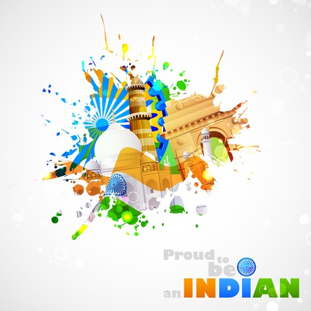 illustration of India background with monument and culture Vector