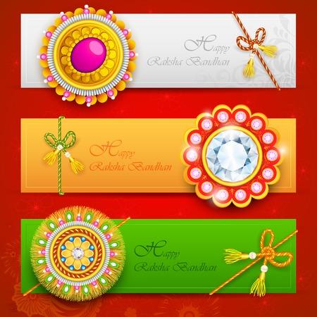 traditionally indian: illustration of decorative rakhi for Raksha Bandhan Illustration