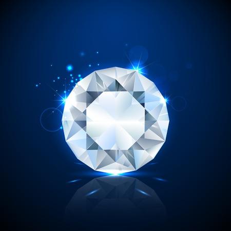 illustration of shiny sparkling diamond