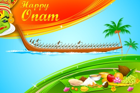 kerala culture: illustration of Onam wallpaper of Kerala Illustration