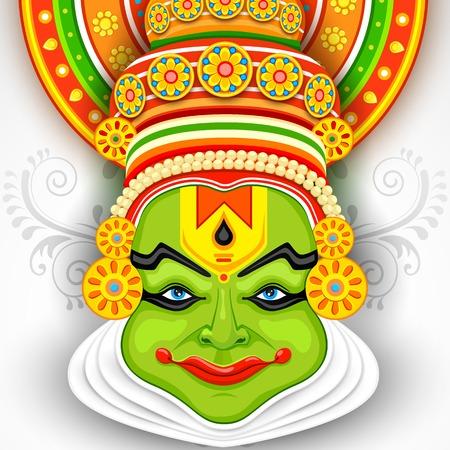 kathakali: illustration of Colorful Kathakali Face