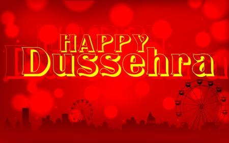 ramayan: illustration of Happy Dussehra background on mela backdrop