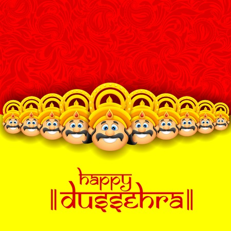 illustration of Raavana with ten heads for Dussehra Stock Vector - 25749523