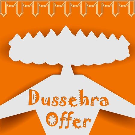 ravana: illustration of Ravana with ten heads for Dussehra Sale Promotion