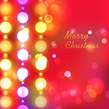 illustration of Christmas Background with Bokeh Effect Vector