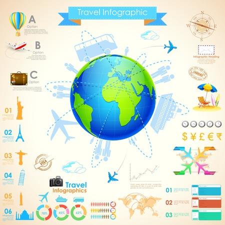 tourist information: illustration of Travel Infographic Chart for presentation