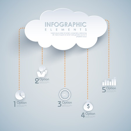 datacenter: illustration of infographic chart of cloud computing Illustration