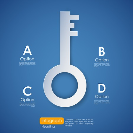 option key: illustration of Key to Success infograph