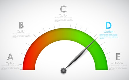 illustration of infographics options with pointer for presentation and promotion Vector