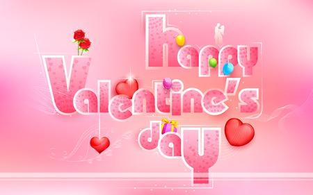 truelove: illustrazione della carta di Buon San Valentino con l'elemento amore Vettoriali