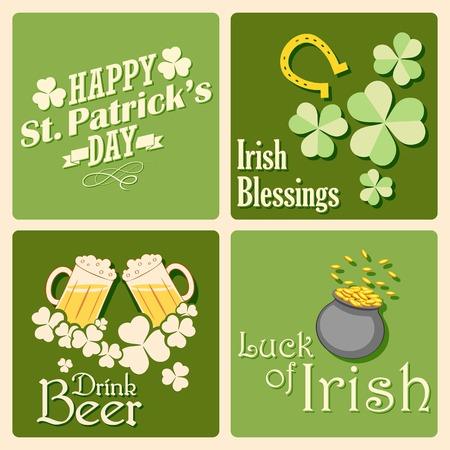 illustration of Saint Patricks Day background Vector