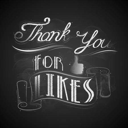 likes: illustration of thank you for likes background Illustration