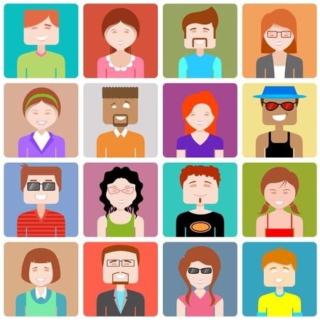 social gathering: illustration of flat design people icon Illustration