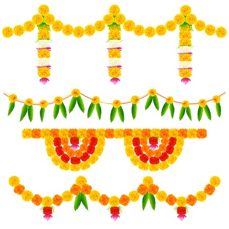 toran: illustration of colorful flower arrangement for festival decoration