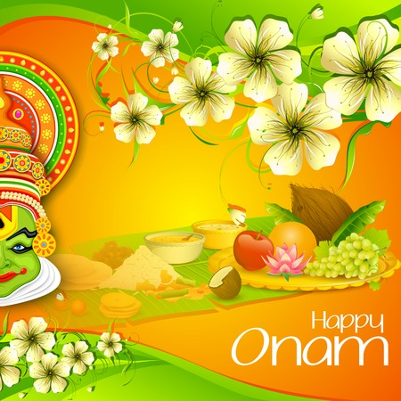 toran: illustration of Onam wallpaper of Kerala Illustration