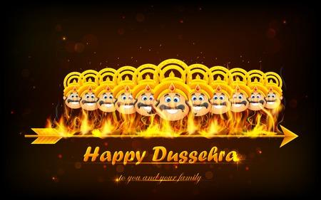 ravana: illustration of Raavan Dahan for Dusshera celebration Illustration