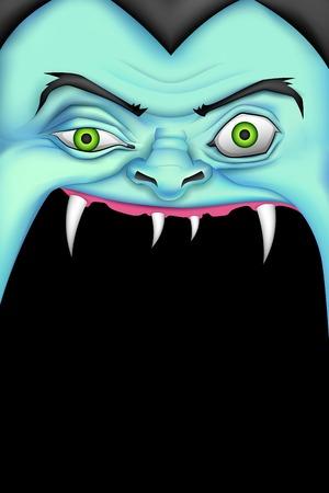 halloween message: illustration of screaming monster for Halloween message Illustration