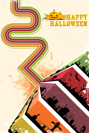 illustration of creepy Happy Halloween background Vector