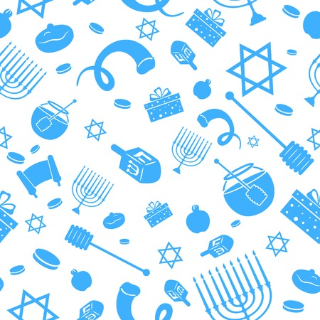 illustration of Seamless Israeli Holiday Pattern Vector