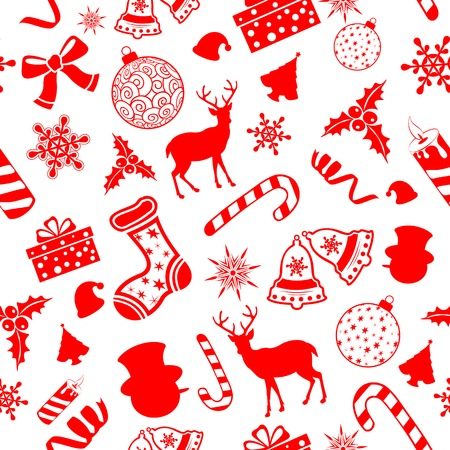 illustration of seamless pattern for Christmas background Vector