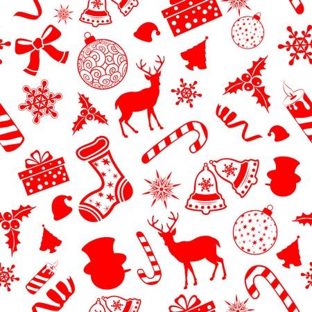 campanas de navidad: ilustración de patrón transparente para la Navidad de fondo