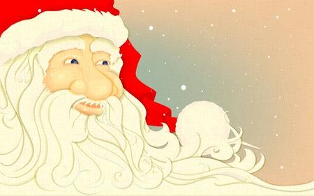 illustration of Santa Claus in retro Christmas Background Vector