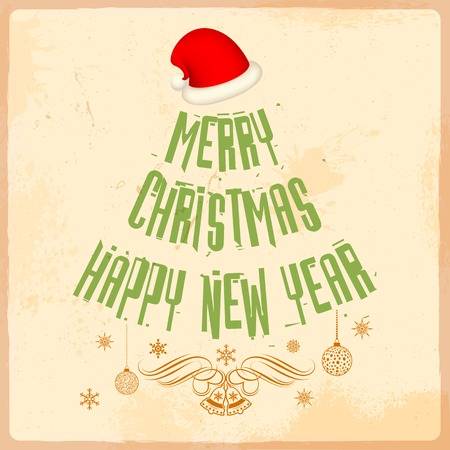 illustration of illustration of Santa Cap for Merry Christmas and Happy New Year Vector