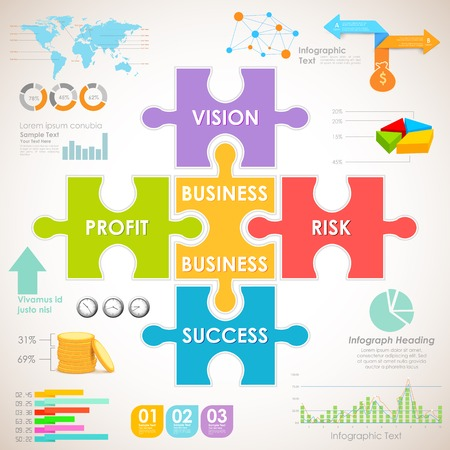 profit and loss: illustration of Business Infographics Chart