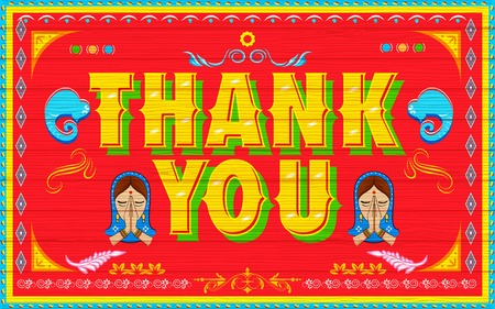 thanx: illustration of Thank You Poster India truck paint style