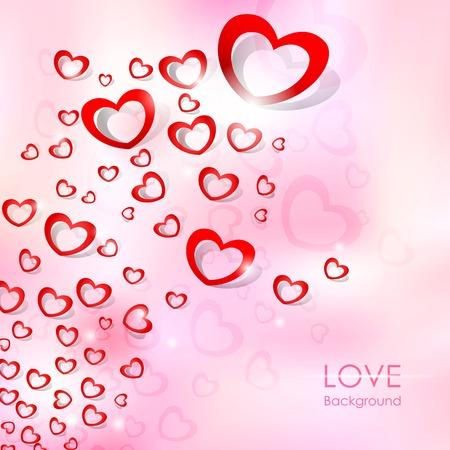 illustration of Flying Heart Love Background