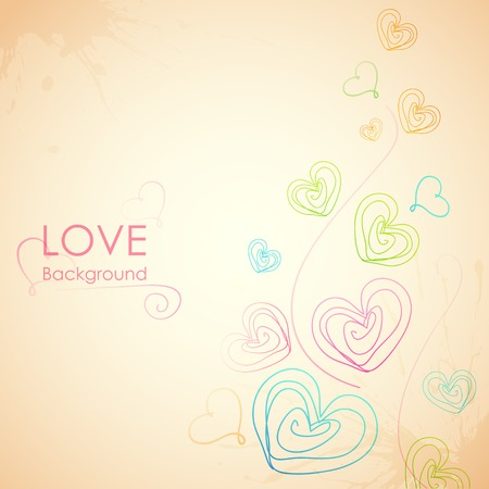 truelove: illustration of Sketchy Heart in Love Background