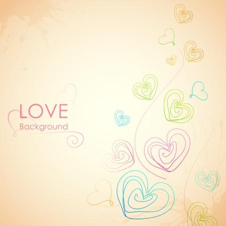 truelove: illustrazione di Sketchy Cuore in Love Background