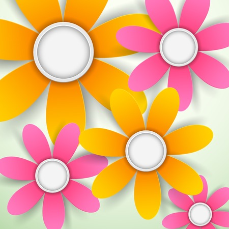 illustration of colorful paper flower background Vector