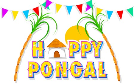 illustration of Happy Pongal greeting background Stock Vector - 25730988