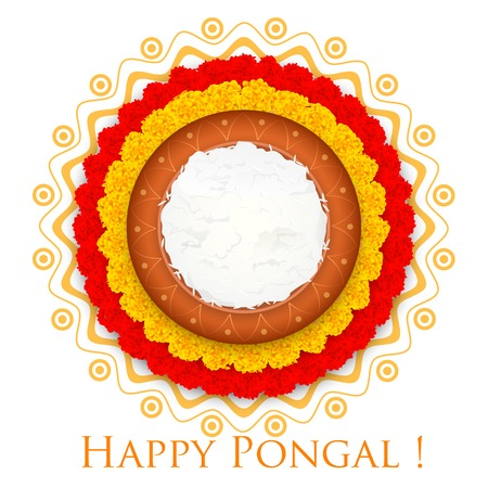 illustration de Happy Pongal salutation fond