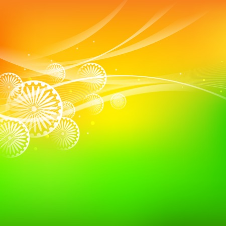 15 august: illustration of abstract India Background Illustration