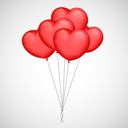 i nobody: illustration of bunch of Heart Balloon